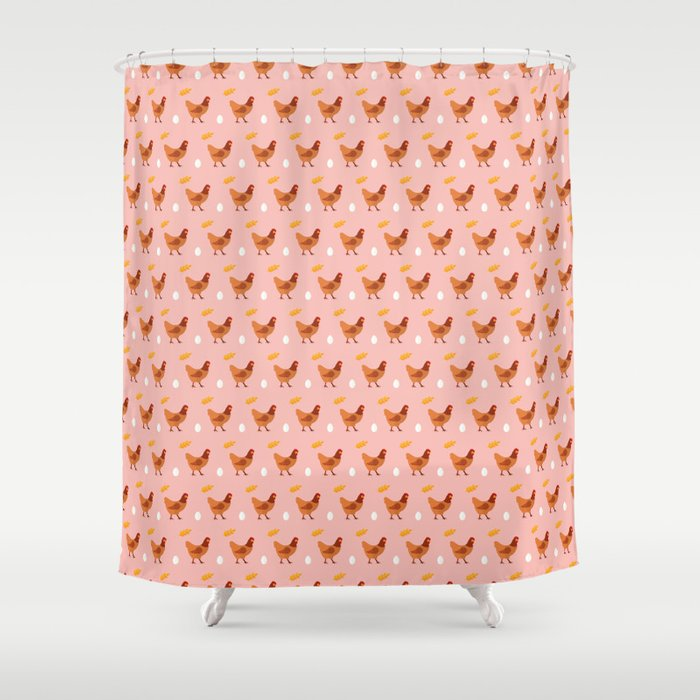Chickens all around Shower Curtain by reneesillustrations | Society6