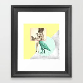 Who would like to date a t-rex Framed Art Print