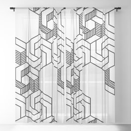 Hex 601 Sheer Curtain
