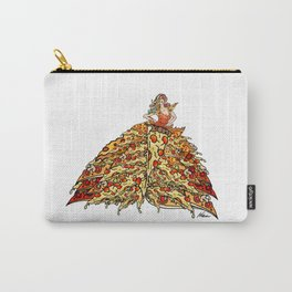 Pizza Peacock Mermaid Dress Carry-All Pouch