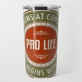 Life Begins At Conception Travel Mug