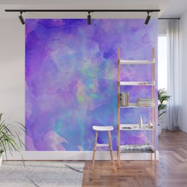 Abstract watercolor colorful painting Wall Mural
