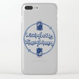 Wibbly Wobbly Clear iPhone Case