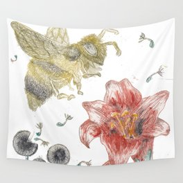 Bee Happy 1 Wall Tapestry