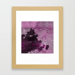 Pink Dreams and Inkstains Framed Art Print