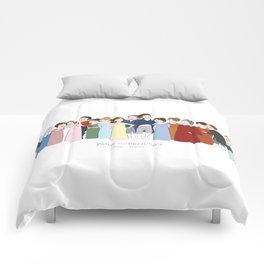 Cast of Jane Austen's Pride and Prejudice Comforters