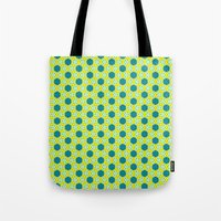 green pattern Tote Bags featuring Pattern green by LoRo  Art & Pictures