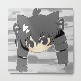 Neko mimi series KURO Metal Print