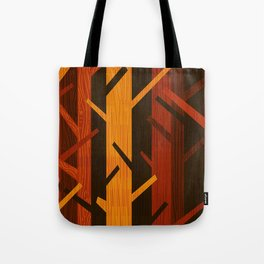 Retro Fall Woods by Friztin Tote Bag