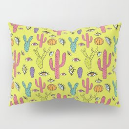 Cactus y ojos Pillow Sham
