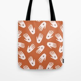 See Hold Love | Terracotta & Pink Tote Bag