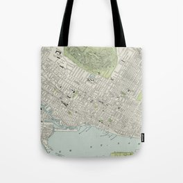 Vintage Map of Montreal (1901) Tote Bag