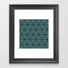 Large triangle pattern Framed Art Print