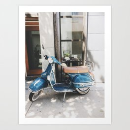 Old Stella the Scooter, South Philadelphia Art Print