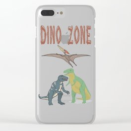 Dino Zone, dinosaurs world, prehistoric Clear iPhone Case