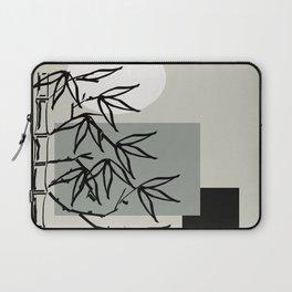 Bamboo Line Art Avocado Green and Black | Saletta Home Decor Laptop Sleeve