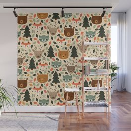 Woodland Creatures Wall Mural