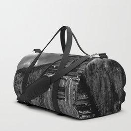 Black and White Barn Duffle Bag