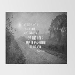 Steps of a Good Man Bible Verse Throw Blanket