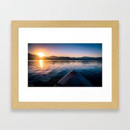 A Golden Sunrise Framed Art Print
