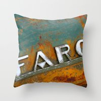 fargo Throw Pillows featuring Fargo by Photo by Malin Linder