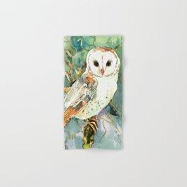 Barn Owl, woodland design owl Hand & Bath Towel