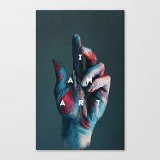 I AM ART Canvas Print