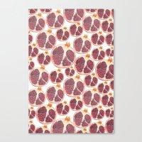 pomegranate Canvas Prints featuring pomegranate by austeja saffron