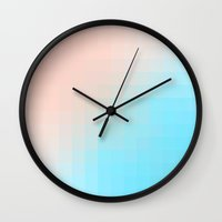 miami Wall Clocks featuring Miami by Lyle Hatch