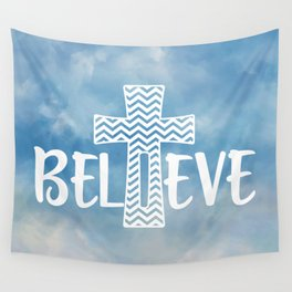 Believe Bible Quote Wall Tapestry