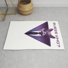 Space cat back Rug
