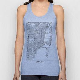 Miami White Map Unisex Tank Top