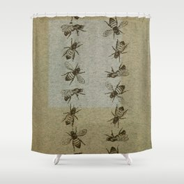 Bee Line Shower Curtain