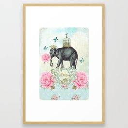 Paris Elephant Framed Art Print