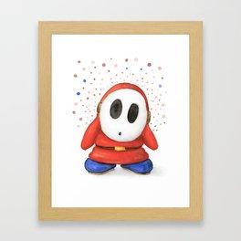 Confused Shy Guy Framed Art Print