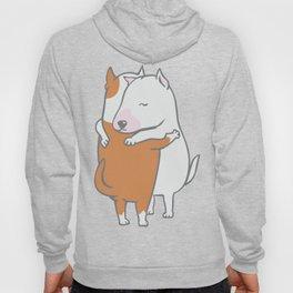 Bull Terrier Hugs Hoody