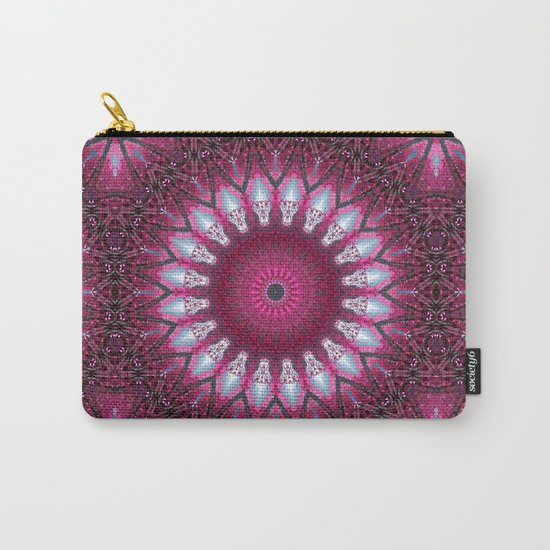 Kaleidoscope pink colors. Carry-All Pouch