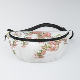 Pink and Green Apple Blossoms Fanny Pack