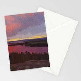 Mountaintop Landscape at Dawn by Hilding Werner Stationery Cards