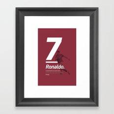 Ronaldo Portugal 7 Framed Art Print