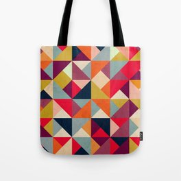 Bright Geometric Happy Pattern Tote Bag