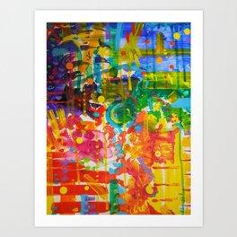 My Colour Wheel Exploded Art Print