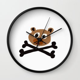 bear-pirata Wall Clock