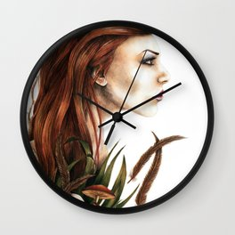 i love not man the less but nature more Wall Clock