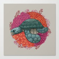 turtle Canvas Prints featuring Turtle by ErDavid