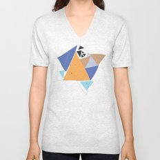 Exploding Triangles//One Unisex V-Neck