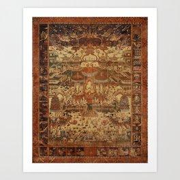 Buddhist Mandala Taima Motif Art Print