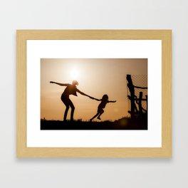 Breaking the bonds of childhood Framed Art Print