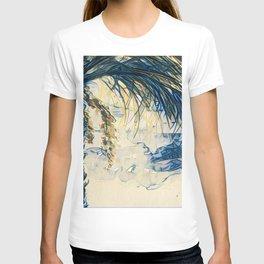 Tropical Palm Tree Blue by CheyAnne Sexton T-shirt