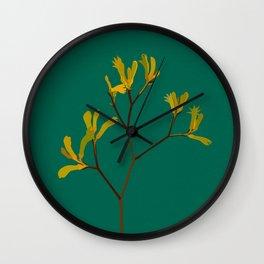 Flower No. 4: Kangaroo Paw Wall Clock